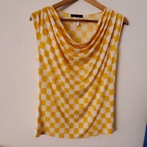 Jennie & Marlis Yellow/White Blouse - 0